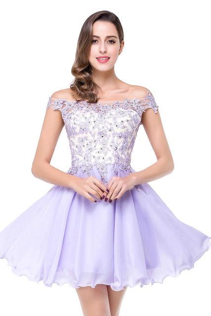 a5628aacd Octavo Grado vestidos de Graduación Prom Vestidos Cortos Vestidos de Fiesta  con Apliques Modest Vestidos Vestido