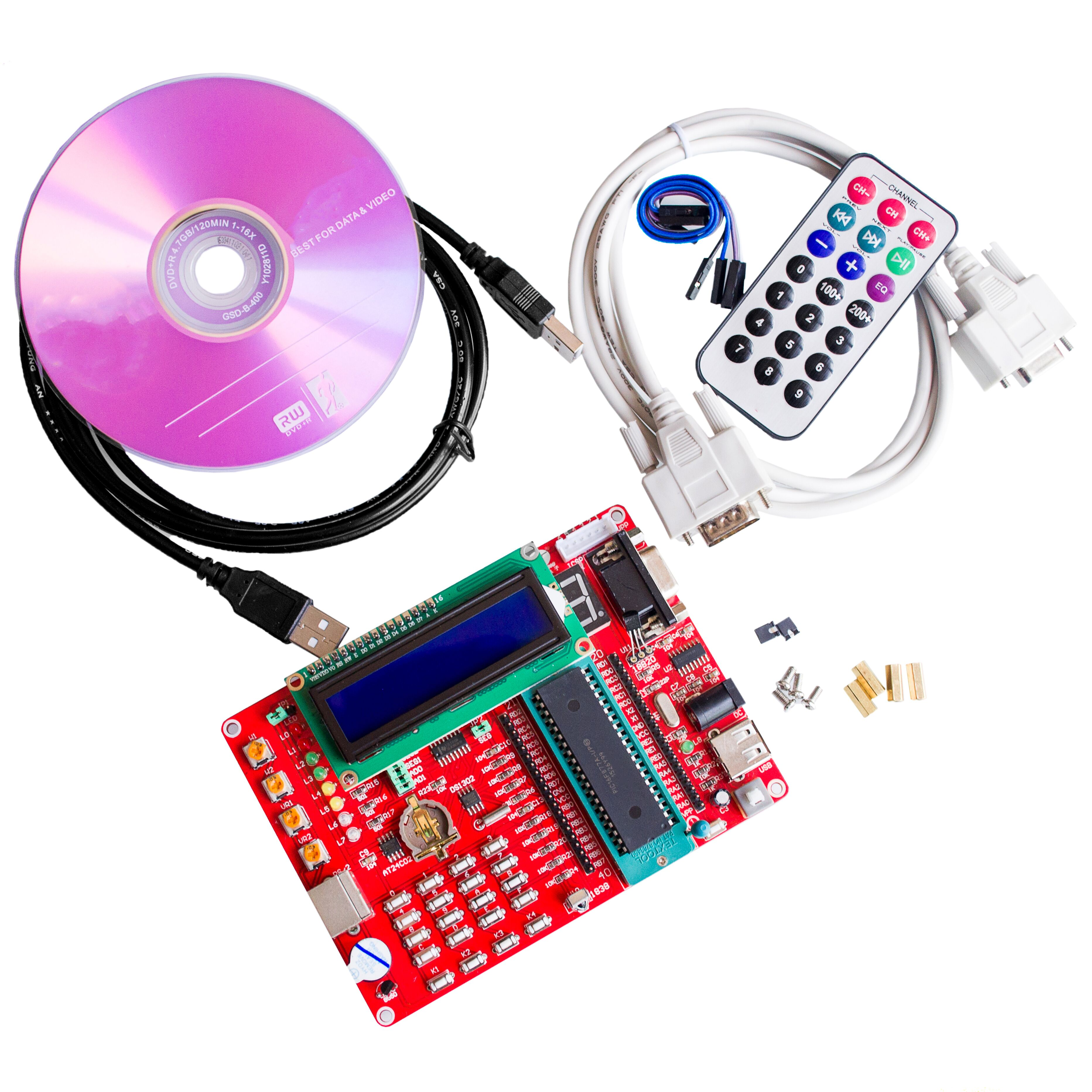 Buy Learning Board Pic Microcontroller Experiment Digital Voltmeter Using 16f877a And Seven Segments Development Video Tutorials From Reliable