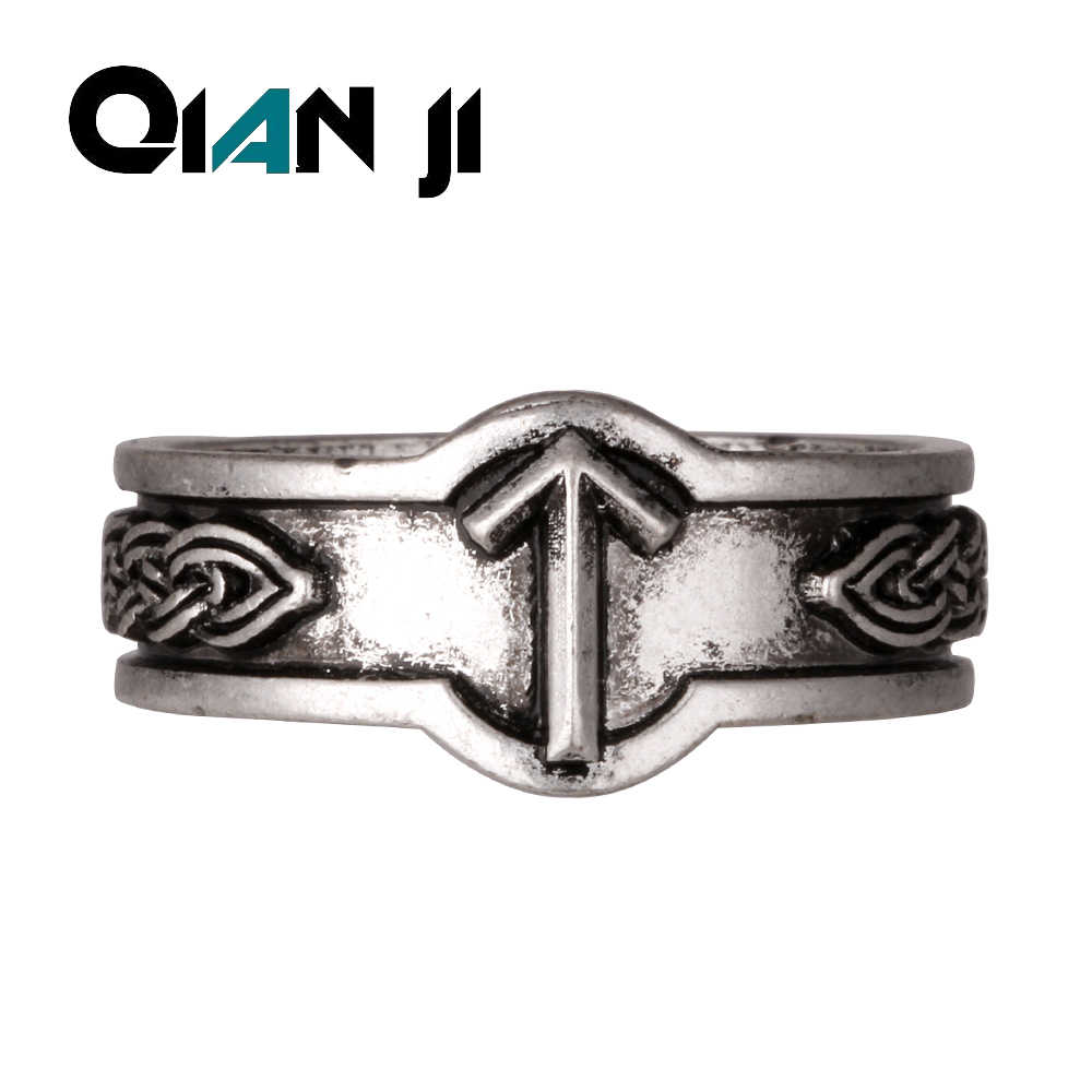 Viking Power of Rune Rings Signet Runic Ring God rings  Alphant Ring Drop Shipping