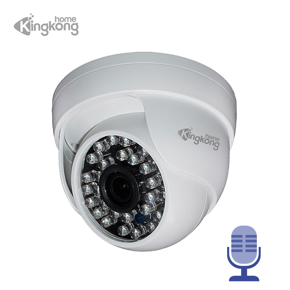 Kingkonghome ONVIF IP Camera 1080P Plastic CCTV Audio Camera Surveillance Outdoor Motion Detectionl Indoor Security Dome IP Cam