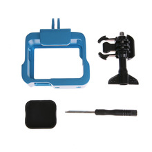 Blue Frame Mount Housing Aluminum Alloy Protect Border for action Camera for gopro hero 5