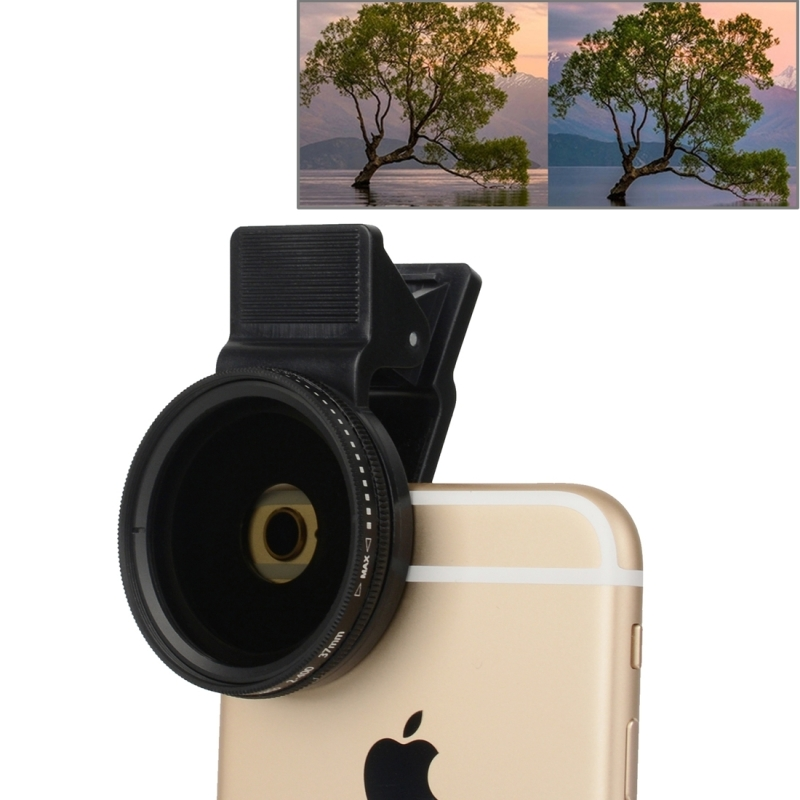 Universal 37mm Cell Phone Cam Lens Professional For iPhone 7 Plus 6 6s Plus Samsung ND