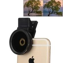 Универсальный 37 мм Сотовый Телефон Камеры Объектив Профессиональный Для iPhone 7 плюс 6 6 s Плюс Samsung ND Круговой Поляризатор Фильтр ND2-ND400 объектив