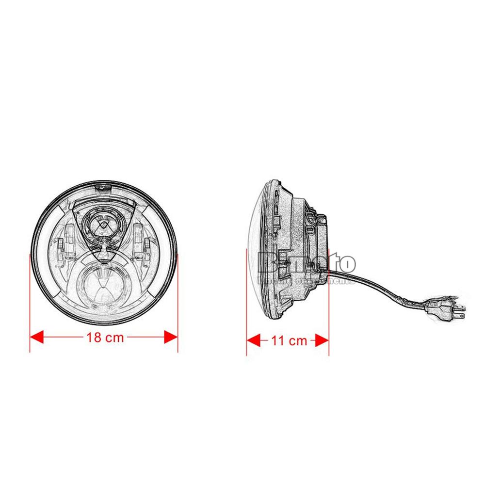 Kit Optical Headlight Harley Heritage Softail FLSTN