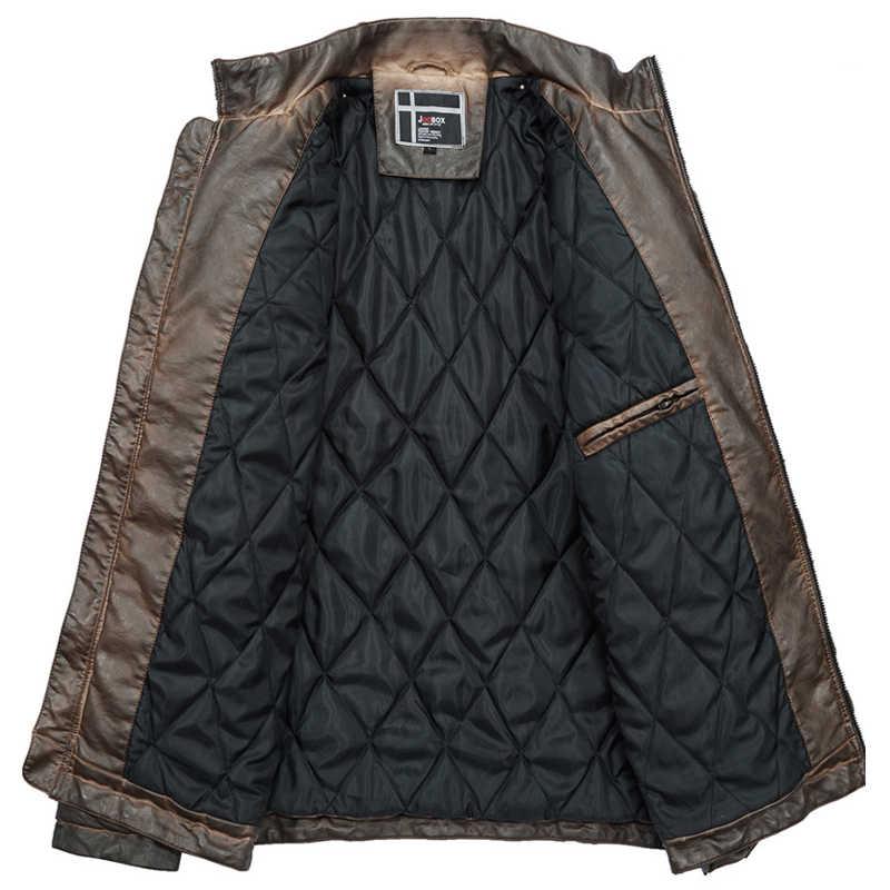 Новый осень весна для мужчин кожаная куртка из натуральной овечьей козы бренд черный мужской бомбер Мотоцикл Байкер человек пальт