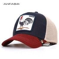 Петух животных вышивка бейсболки для мужчин и женщин Универсальный Регулируемый высокое качество открытый зонт лето шляпы с сеткой