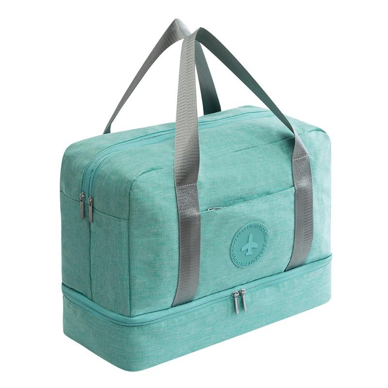 Портативная дорожная сумка JULY'S SONG, водонепроницаемая многофункциональная сумка для сухого влажного разделения, дорожная сумка для путешествий, Прямая поставка - Цвет: 2