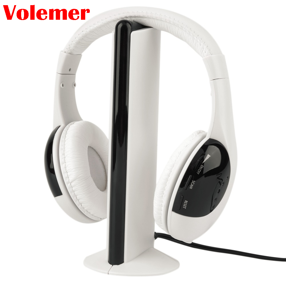 Volemer 2018 Hot Sale 5 in 1 Wireless Headphones Watch Tv Earphone Cordless Headset for MP3 PC Stereo TV FM iPod 2018 best original bingle b616 multifunction stereo with microphone fm radio for mp3 pc audio headset wireless headphones for tv