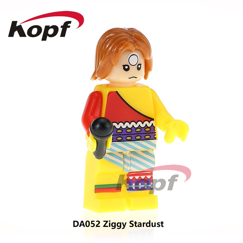 Building Blocks Single Sale Ziggy Stardust David Bowie Rebel Rebel Super Heroes Dolls Model Bricks Children Gift Toys DA052 single sale super heroes defensive team members dolls model bricks christmas building blocks education toys for children pg8081