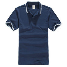 Men's Polo T-Shirt with Tipping Collar and Cuff