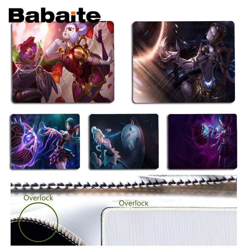 Babaite Mooie Anime Orianna Lol Hoge Snelheid Nieuwe Mousepad Gamer Speed Muizen Retail Kleine Rubber Mousepad