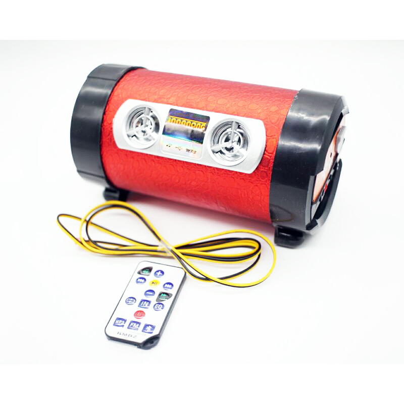 DC 12V 4 Inch Motorcycle MP3 Music Player Scooter Speaker Alarm Motorbike Subwoofer Audio Stereo Support TF Card USB