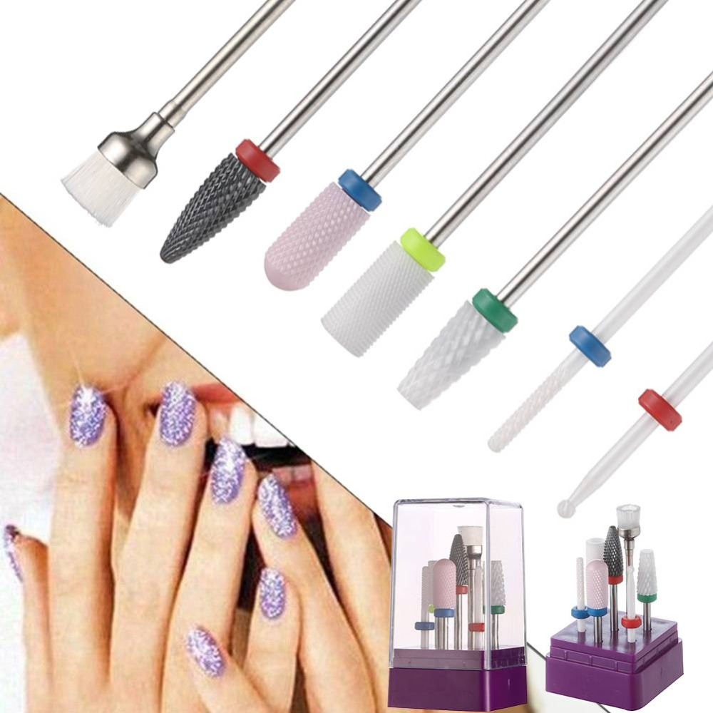 Romatpretty Ceramic Nail File Drill Manicure Pedicure Nail Art Tools Portable Nail Polisher Kits