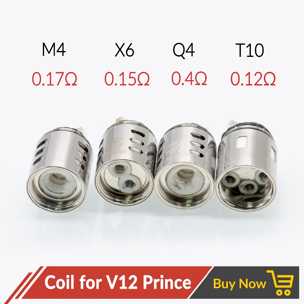 Volcanee 3pcs V12 Prince Coils Replacement M4 Q4 X6 T10 Wire For V12 Prince Tank Atomizer Vape Coil E Cigarettes Head Cores