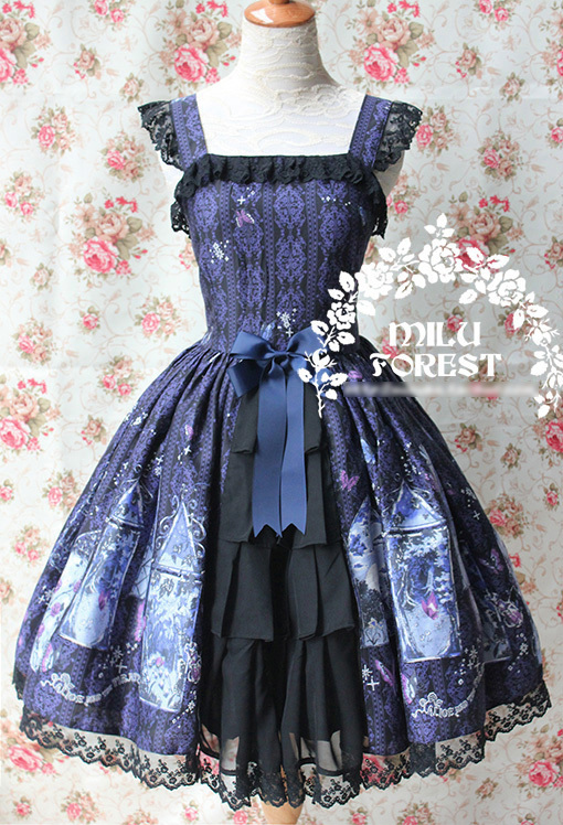 Lolita Sling Fabric Print Chiffon Cotton Christmas Party