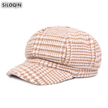 SILOQIN Womens Hat Elegant Fashion Newsboy Caps Winter Thick Warm Beret Painter For Women New Style High Quality Ladies Cap