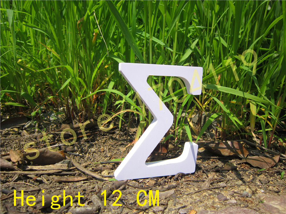 wedding <font><b>nautical</b></font> <font><b>decoration</b></font> 12cm pure white letter Greek letter <font><b>Home</b></font> <font><b>decoration</b></font> Birthday Gift Artificial wood letters