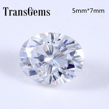TransGems 1 Carat 5mm*7mm F Color Oval cut moissanite Diamond Loose Stone