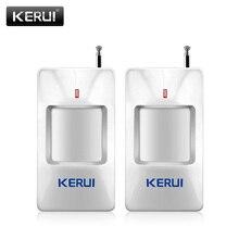 KERUI P815 2 adet/grup kablosuz alarm PIR kızılötesi sensör dedektörü uzun algılama mesafesi ile için G18 W18 güvenlik alarm sistemi