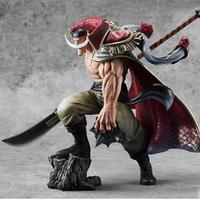 One Piece Edward Newgate Action Figures 30cm Plus Size Fighting Ver Toys White Moustache
