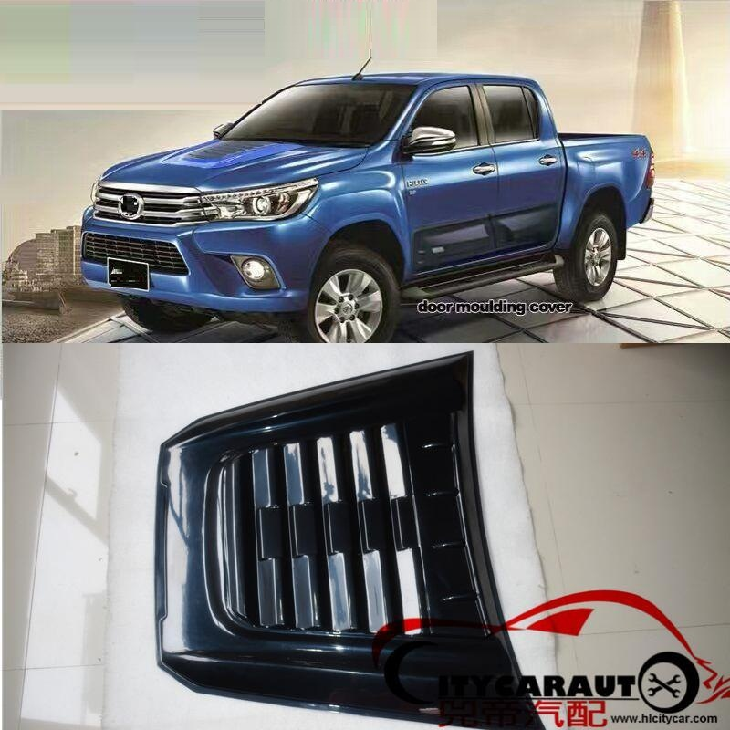 CITYCARAUTO HIGH QUALITY bonnet scoop COVER fit for HILUX REVO everest endeavor 2016+ raptor hood scoop bonnet COVER 2015 2017 car wind deflector awnings shelters for hilux vigo revo black window deflector guard rain shield fit for hilux revo