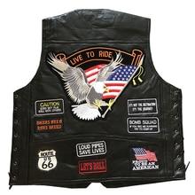 Ботинки из натуральной кожи в байкерском Rider жилет Для мужчин панк ретро классический Стиль 14 мотоциклетная куртка Повседневное байкерского клуба жилет Костюмы