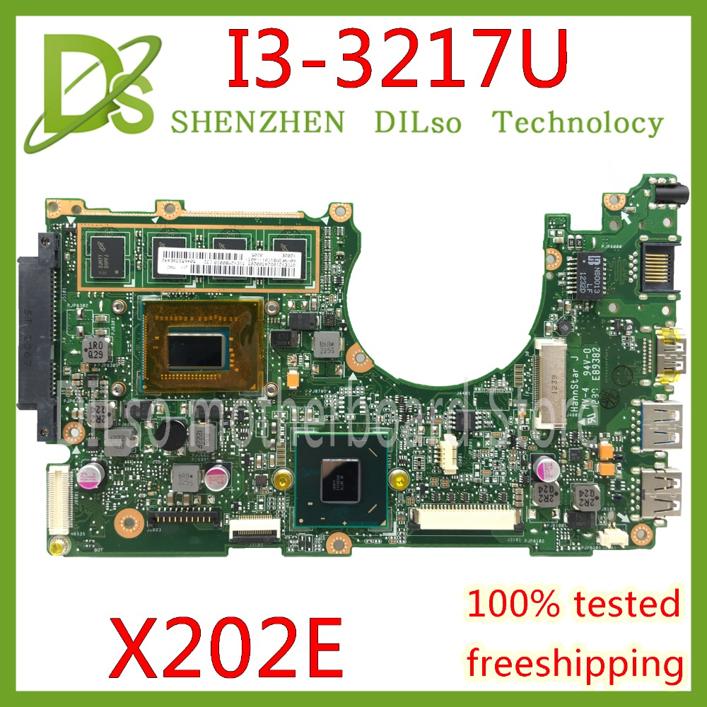 KEFU x202e For ASUS S200E X202E X201E X202EP Vivobook motherboard REV2.0 I3-3217U cpu 2G/4G RAM onboard 100% Test work for asus x450cc laptop motherboard i3 3217u 2g video memory x450cc motherboard 4g ram rev2 3 100% tested