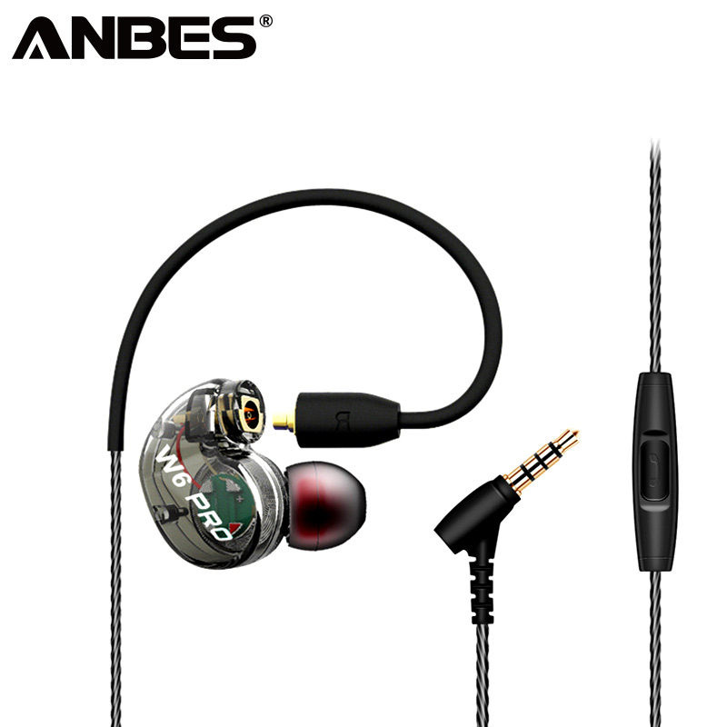 ANBES Sport Wired Headphones Heavy Bass Sound Earphones Plug-in Music Headset For Xiaomi mi8 Samsung Waterproof fone de ouvido