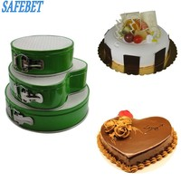 2017 Round Heart Shaped Birthday Cake Mold Metal Non Stick Bottom Buckle Metal Chocolate Bread Mousse