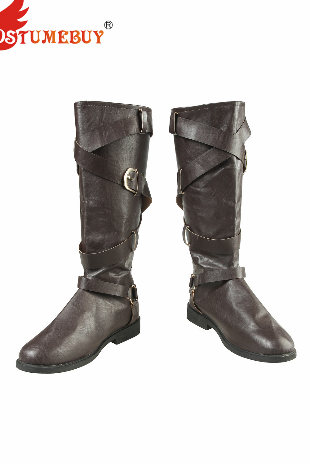 CostumeBuy Game Devil May Cry 5 Cosplay DMC5 Dante Costume PU Leather Boots Mysterious Man Fancy Shoes Halloween Props Outfits