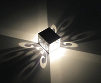 5pcs Lot Butterfly Colorful LED Wall Light Energy Saving Lamp Decorate House Bar KTV Rooms Sitting