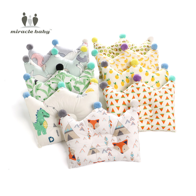 Baby Shaping Pillow Prevent Flat Head Infants Crown Dot Bedding Pillows Newborn Boy Girl Room Decoration Accessories 0-24 Month