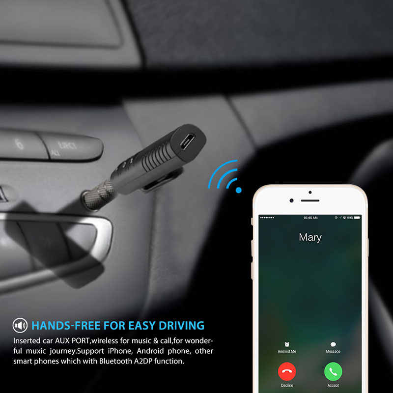 Onever universal 3 5mm Car Kit Bluetooth 4 1 Receiver Music Audio Receiver  Adapter AUX Streaming A2DP Kit for Speaker Headphone