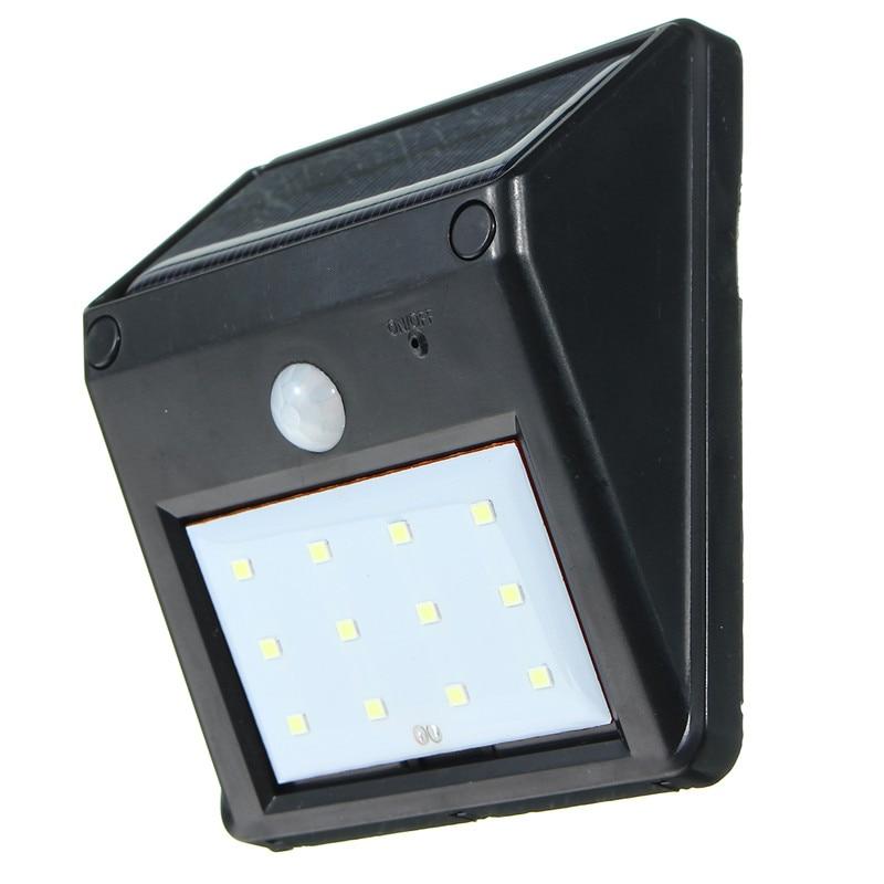 Mising 12 LED Solar Power PIR Motion Sensor Wall Light Outdoor Waterproof Energy Saving Street Yard Path Garden Security Lamp