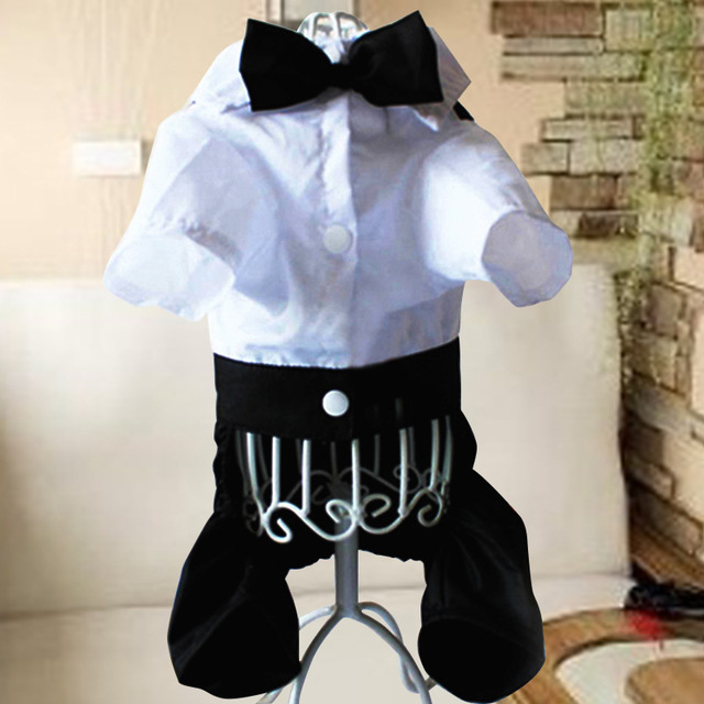 Male Dog Wedding Suit Boy Dog Tuxedo Jumpsuit Clothes for Dog Tie ...