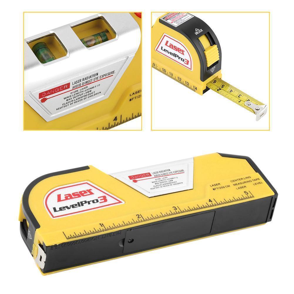 laser level wire Infrared Line Laser Level Tape Measure 2.5 meter ...