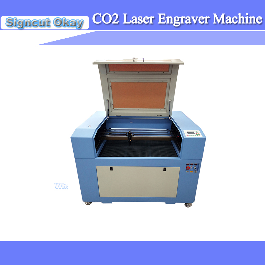 60W CO2 Laser Engraving Cutting Machine With 600*900mm Motoized Up And Down Honeycomb Working Size Used For Wood/Plywood/Acrylic