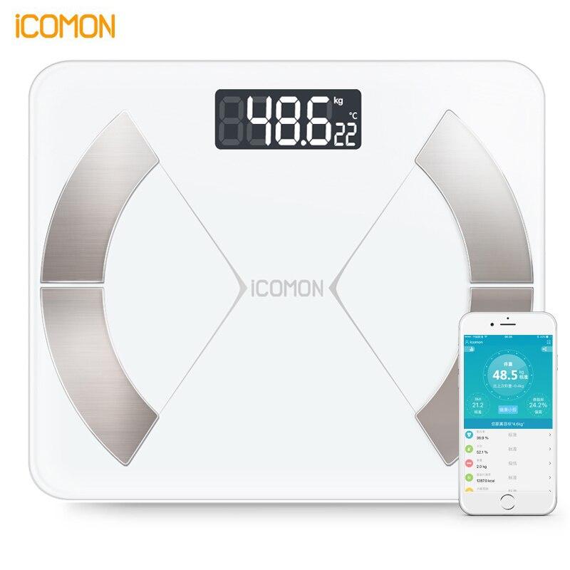 Hot ICOMON i31 Piano Elettronico Bilancia s Intelligente Bagno Peso Bilancia Pesi Android ios versione Internazionale APP PK YUNMAI 180 kg