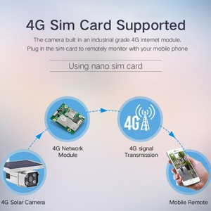 Image 3 - 2019 neueste 4G SIM Karte Solar Panel Powered IP Kamera 1080 P Im Freien Sicherheit Cctv kamera mit Eingebaute batterie PIR Sensor YN88
