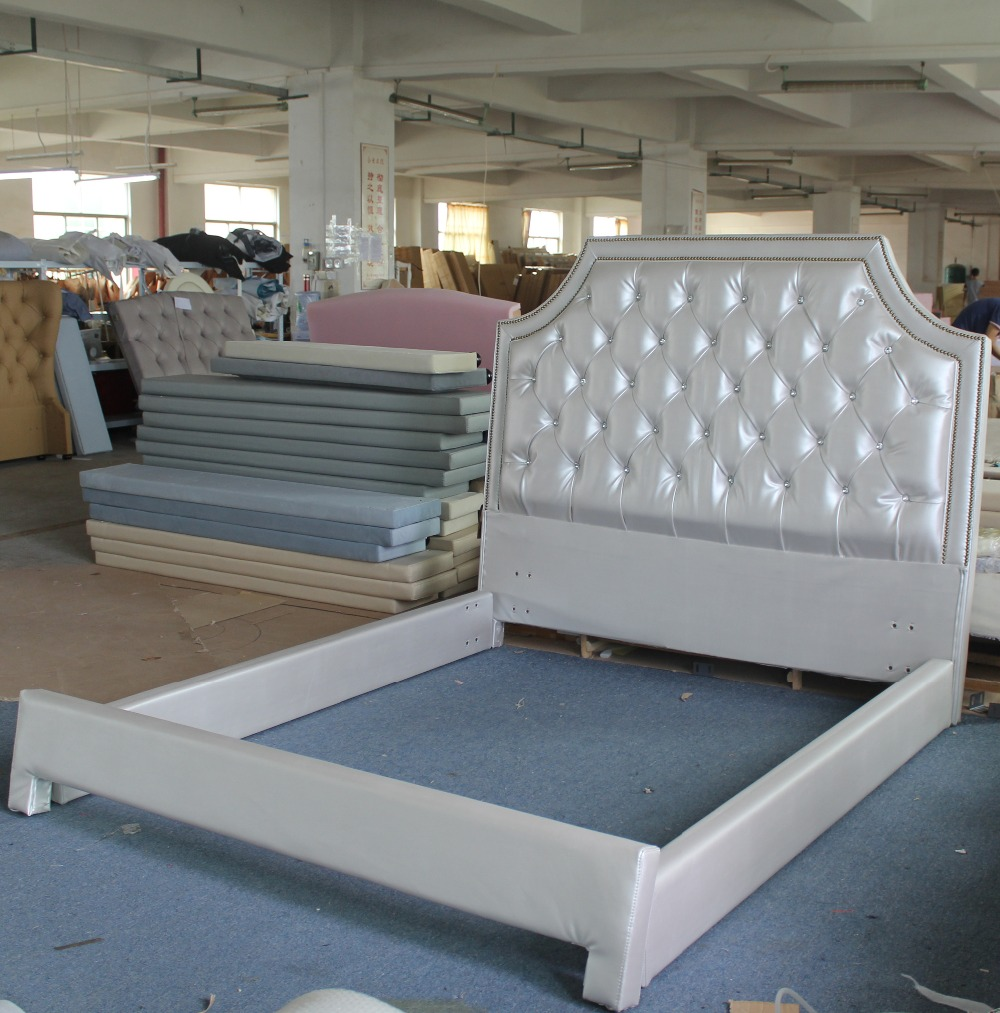 White Leather Diamond Bed On Sale In Beds From Furniture On Alibaba Group