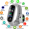 2019 Smart Sport Bracelet Wristband Blood Pressure Heart Rate Monitor Pedometer Smart Watch men For Android iOS