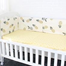Babybäddstämpel Mjukt andas tecknade mönster Barnsängskydd för barn Croth till barnsäng Babysäng Set 120cm per st