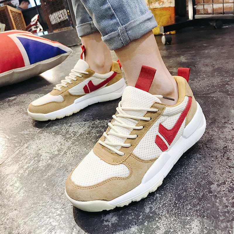 Retro Outdoor Sports Shoes Hot Sale Breathable Male Light Weight Shoes Sneakers For Man Athletic Trainer Running Shoes Tennis