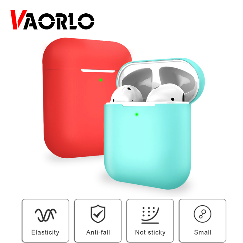 TPU Soft Silicone Case For <font><b>Airpods</b></font> 2nd Protector Cover Skin Accessories For <font><b>TWS</b></font> I20 <font><b>I30</b></font> I60 I10 I12 Wireless Bluetooth Earbuds image
