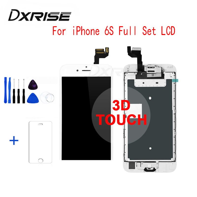 Liquid crystal display Display screen For Iphone 6S Show Full Set Meeting Contact Digitizer Substitute+Digital camera+Dwelling Button+3D Contact Display screen+Instruments Elements