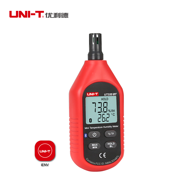 UNI T UT333BT Mini Bluetooth DigitalTemperature Humidity Meter Digital LCD Mini Temperature Humidity Meter Moisture Meter