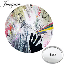 JWEIJIAO Abstracts Oil Paintings Art Photo Printed Mini One Side Flat Pocket Mirror Compact Portable Makeup Vanity Hand Mirrors