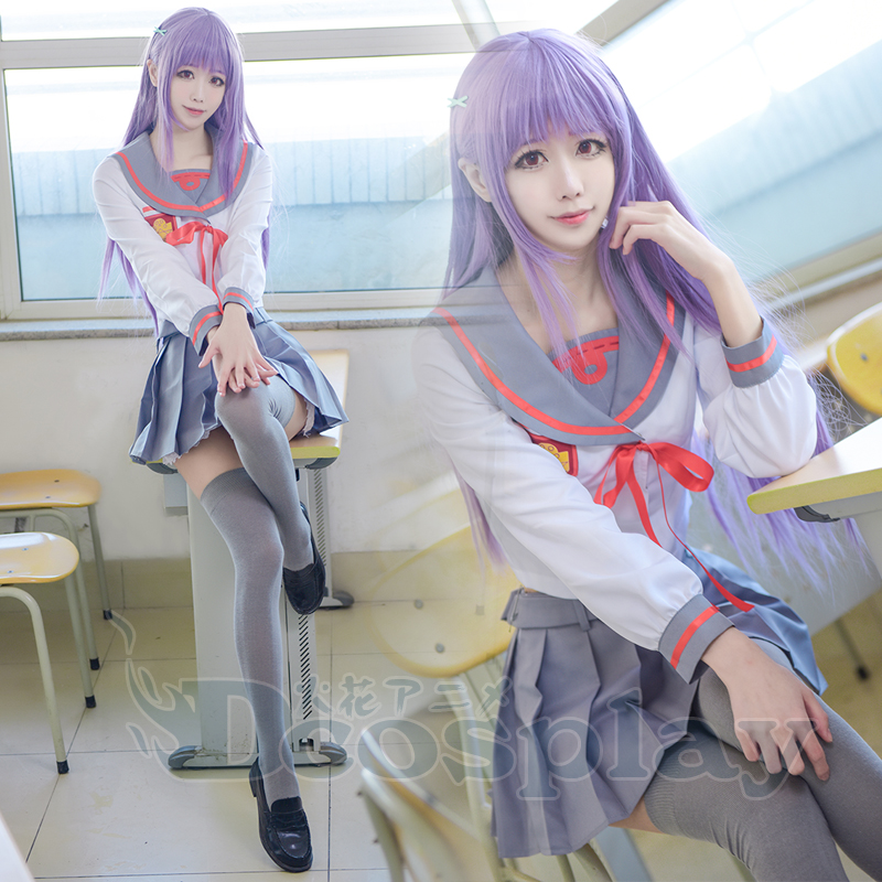 Anime Owarino Seraph Figure Hiragi Mahiru school girls Uniform Cosplay Costume Sailor Dress Lolita Full set Customize Any sizes