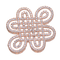 Hot Trendy Jewelry Vintage Zircon Copper Knot Charms For Jewelry Making Diy Micro Pave Crafts Big Charms Wholesale Connectors