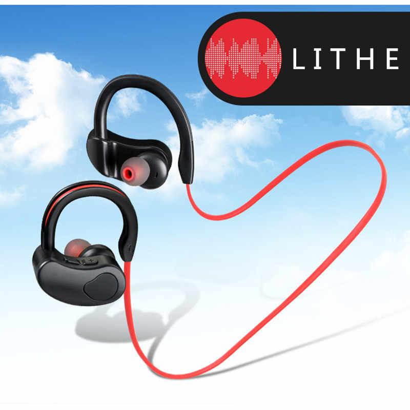 Słuchawki Stereo Sport słuchawki bezprzewodowe z bluetooth z mikrofonem zestawy słuchawkowe bluetooth słuchawki douszne do telefonu komórkowego android ios